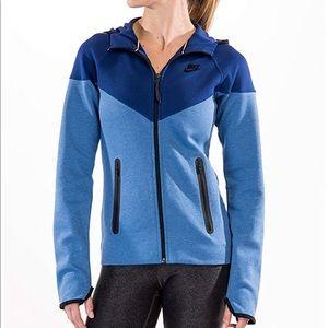 Women's Nike Tech Fleece Full Zip Hoodie Blue